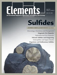 Cover for the April 2017 issue of Elements (v13n2)