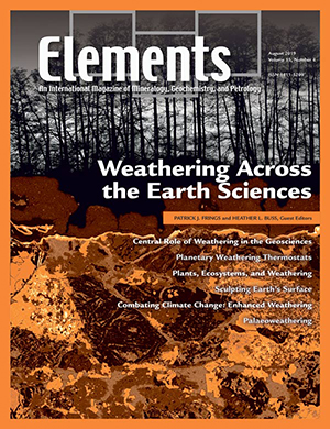 August 2019 (v15n4) Weathering Across the Earth Sciences